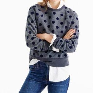 J. Crew textured polka dot raglan sweatshirt